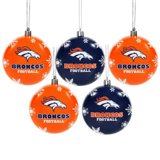 Denver Broncos 2016 NFL Shatterproof Ball Ornaments