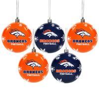 Denver Broncos 2016 NFL Shatterproof Ball Ornaments