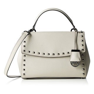Michael Kors Cement Small Ava Stud Top Handle Satchel