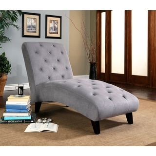 Abbyson Florence Grey Chaise Lounge