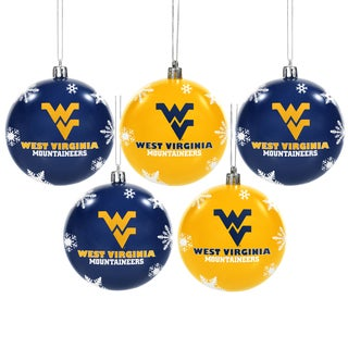 WV Mountaineers 2016 NCAA Shatterproof Ball Ornaments