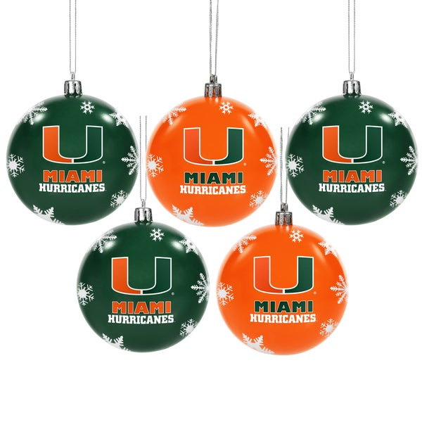 Miami Hurricanes 2016 NCAA Shatterproof Ball Ornaments