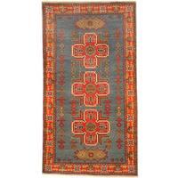 Handmade Herat Oriental Afghan Kazak Wool Rug  - 2'10 x 5'2 (Afghanistan)