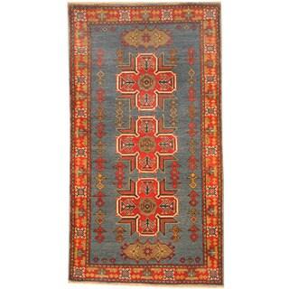 Handmade Herat Oriental Afghan Kazak Wool Rug (Afghanistan) - 2'10 x 5'2