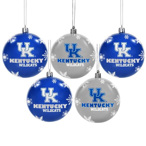 Kentucky Wildcats 2016 NCAA Shatterproof Ball Ornaments