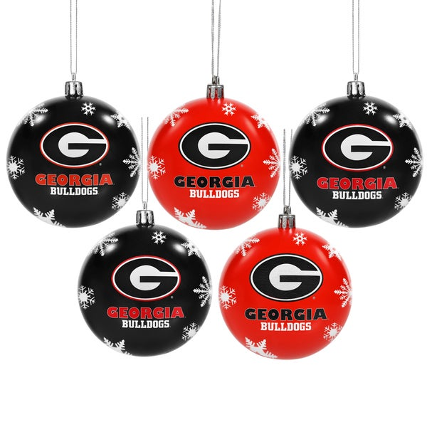 Georgia Bulldogs 2016 NCAA Shatterproof Ball Ornaments