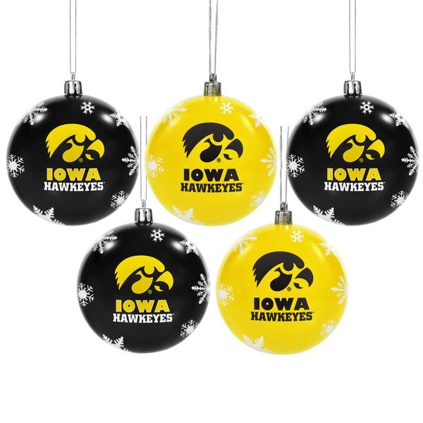 Iowa Hawkeyes 2016 NCAA Shatterproof Ball Ornaments