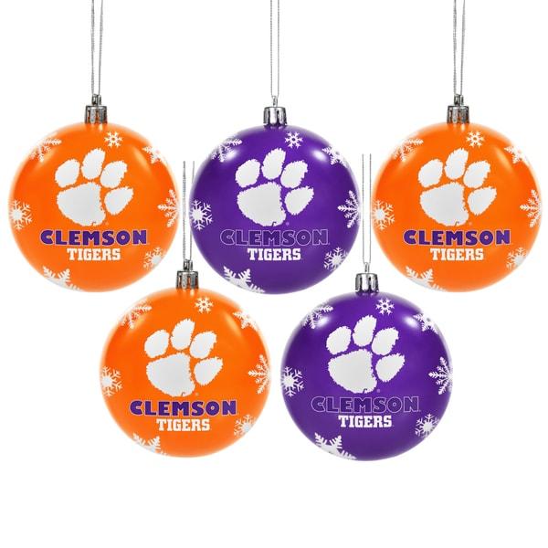 Clemson Tigers 2016 NCAA Shatterproof Ball Ornaments