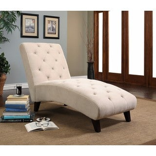 abbyson florence ivory chaise lounge - Living Room Chaise Lounge Chairs
