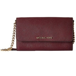Michael Kors Plum Jet Set Travel Large Phone Crossbody Handbag
