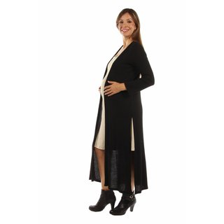 The Perfect 10 Soft Rib, Maternity Black Cardigan Shrug