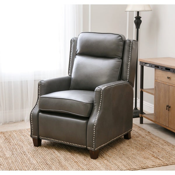 Abbyson richfield pushback leather recliner free for Abbyson living sedona leather chaise recliner