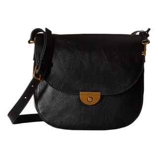 Fossil Emi Black Large Saddle Handbag