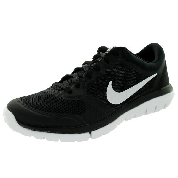 ddafaba4ec97a Shop Nike Women s Flex 2015 Black and White Synthetic Running Shoes ...
