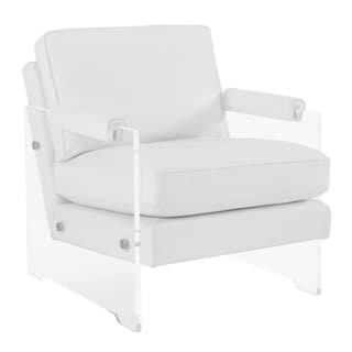 Serena White Eco Leather and Lucite Chair