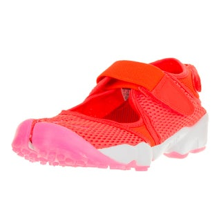 Nike Women's Air Rift Br Total Orange, Pink Blast, and White Plastic Running Shoes