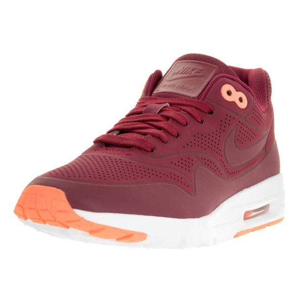 Nike Women's AIR MAX 1 ULTRA MOIRE Shoes  size 7.5 Noble Red 704995-602