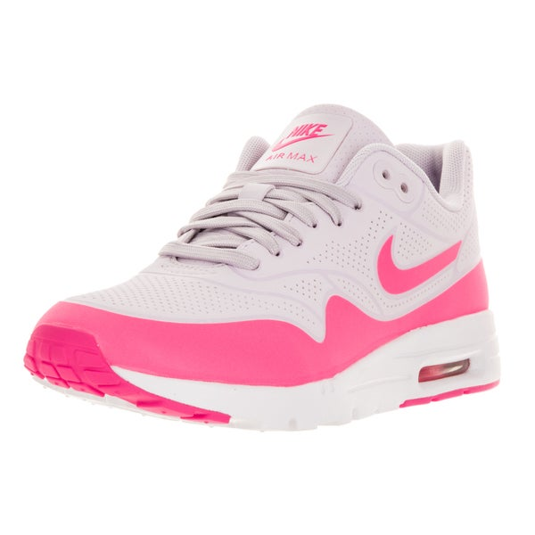... Womens' Athletic Shoes. Nike Women's Air Max 1 Ultra Moire  Bleached Lilac/Pink Blast