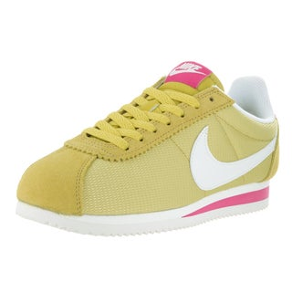 Nike Women's Classic Cortez Celery and Pink Casual Shoe