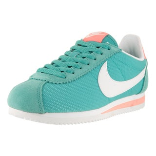 Nike Women's Classic Cortez TxT Washed Teal/Sail/Atomic Pink Casual Shoes