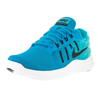 Nike Women's Lunarstelos Blue Glow, Black, Gamma Blue, and White Running Shoes