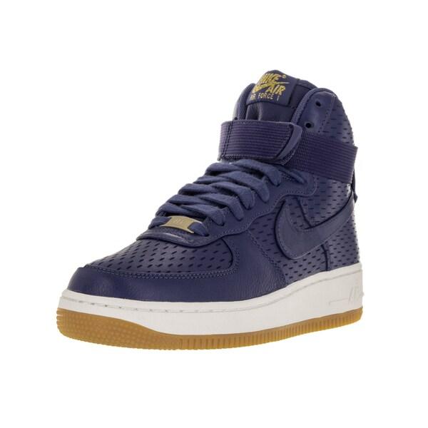 super popular 7b52a 99da2 Nike Women  x27 s Air Force 1 Hi Purple Leather Premium Basketball Shoes