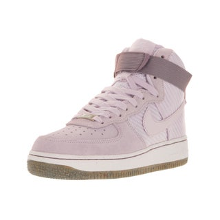 Nike Women's Air Force 1 Hi Prm Bleached Lilac/Bleached Lilac Suede Basketball Shoes