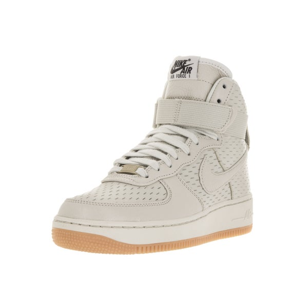 Shop Nike Women s Air Force 1 Light Bone Light Bone Black Basketball ... e73008c610f