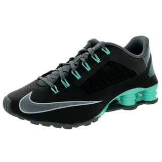 Nike Women's Shox Superfly R4 Black/Dark Grey/Hyper Turquoise Leather Running Shoe