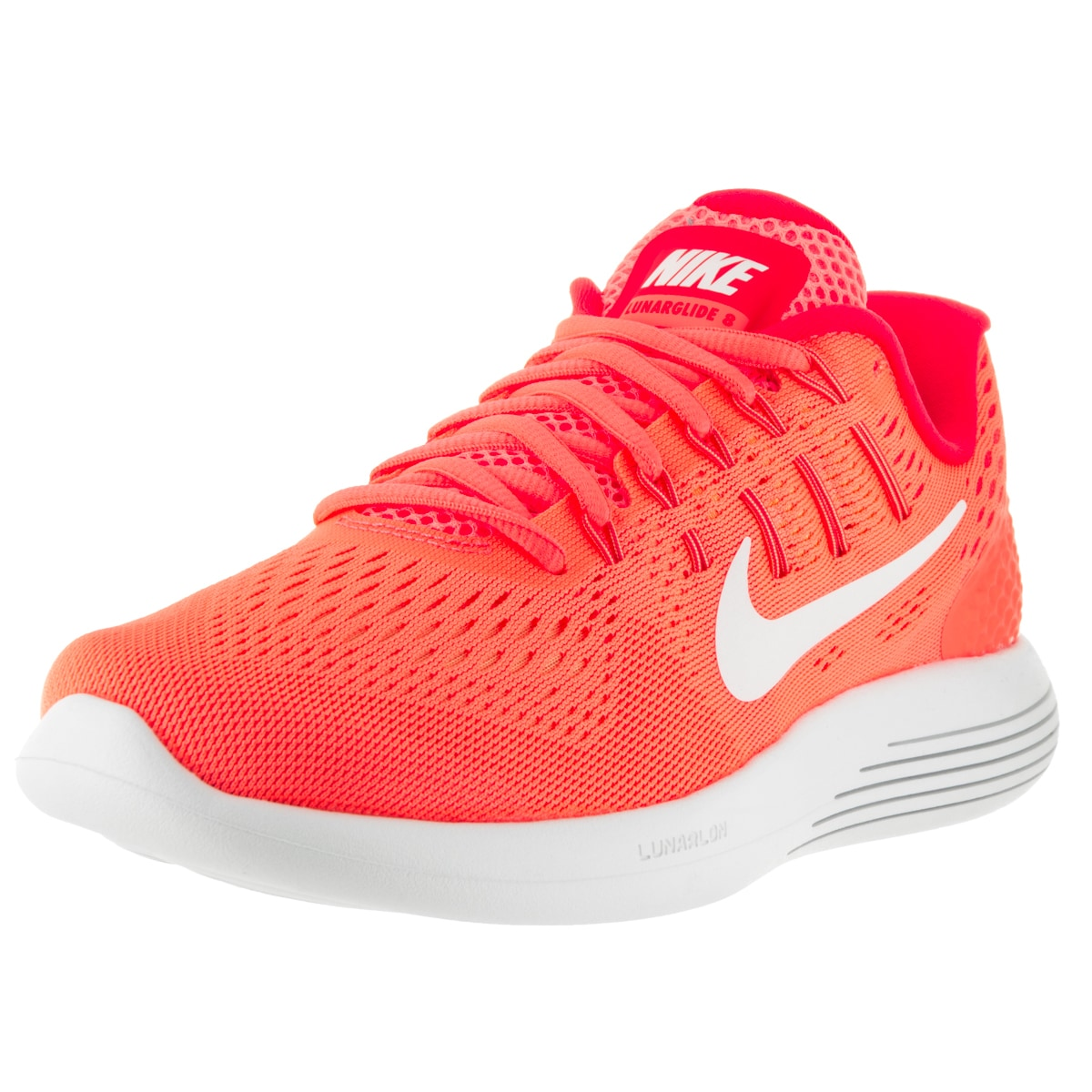 Nike Women's 'Lunarglide 8' Bright Mango, White, and Brig...