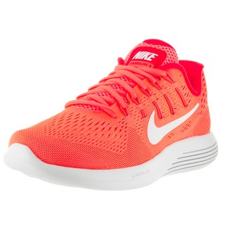 Nike Women's 'Lunarglide 8' Bright Mango, White, and Bright Crimson Synthetic Running Shoes