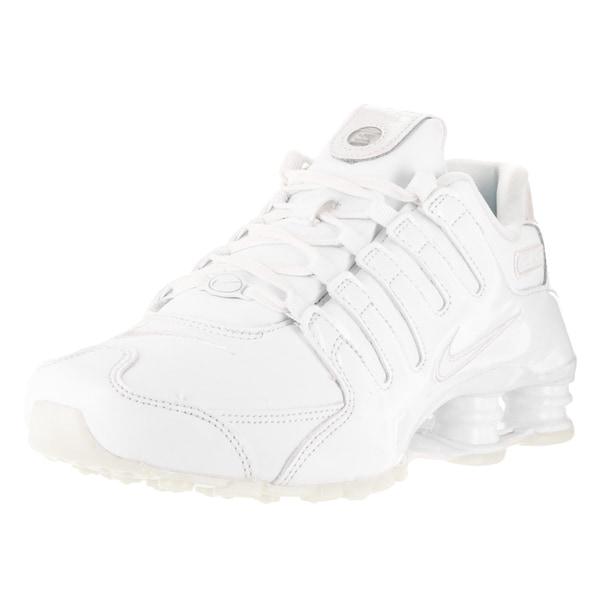 Fashion goods Nike Women's Shox NZ Running Shoe White/White/Blue Tint/White 636088 115