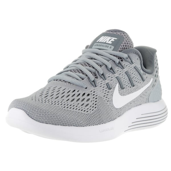 6a38979757f83 Nike Women  x27 s Lunarglide 8 Wolf Grey White Cool Grey Running Shoes