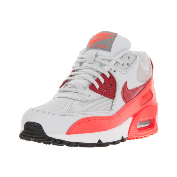 new styles 92082 f97d5 Nike Women  x27 s Air Max 90 Essential Pure Platinum Gym Red