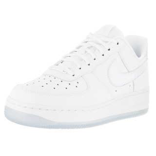Nike Women's Air Force 1 '07 Prm White/White/Blue Tint Leather Basketball Shoes
