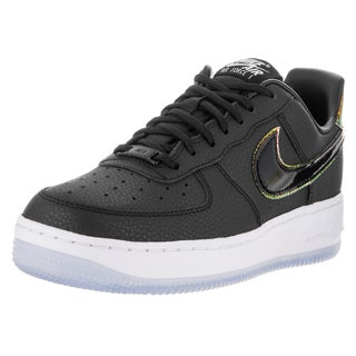Nike Women's Air Force 1 '07 Prm Black/Black/Pure Platinum Leather Basketball Shoes