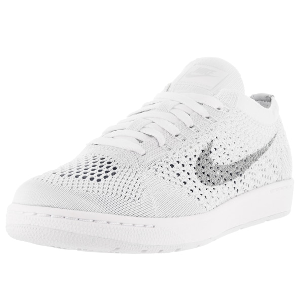 official photos dcbfd af4fe Nike Women  x27 s Tennis Classic Ultra Flyknit White Grey Fabric Tennis Shoe