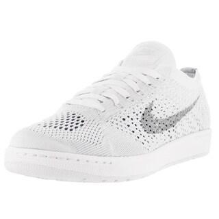 Nike Women's Tennis Classic Ultra Flyknit White/Grey Fabric Tennis Shoe
