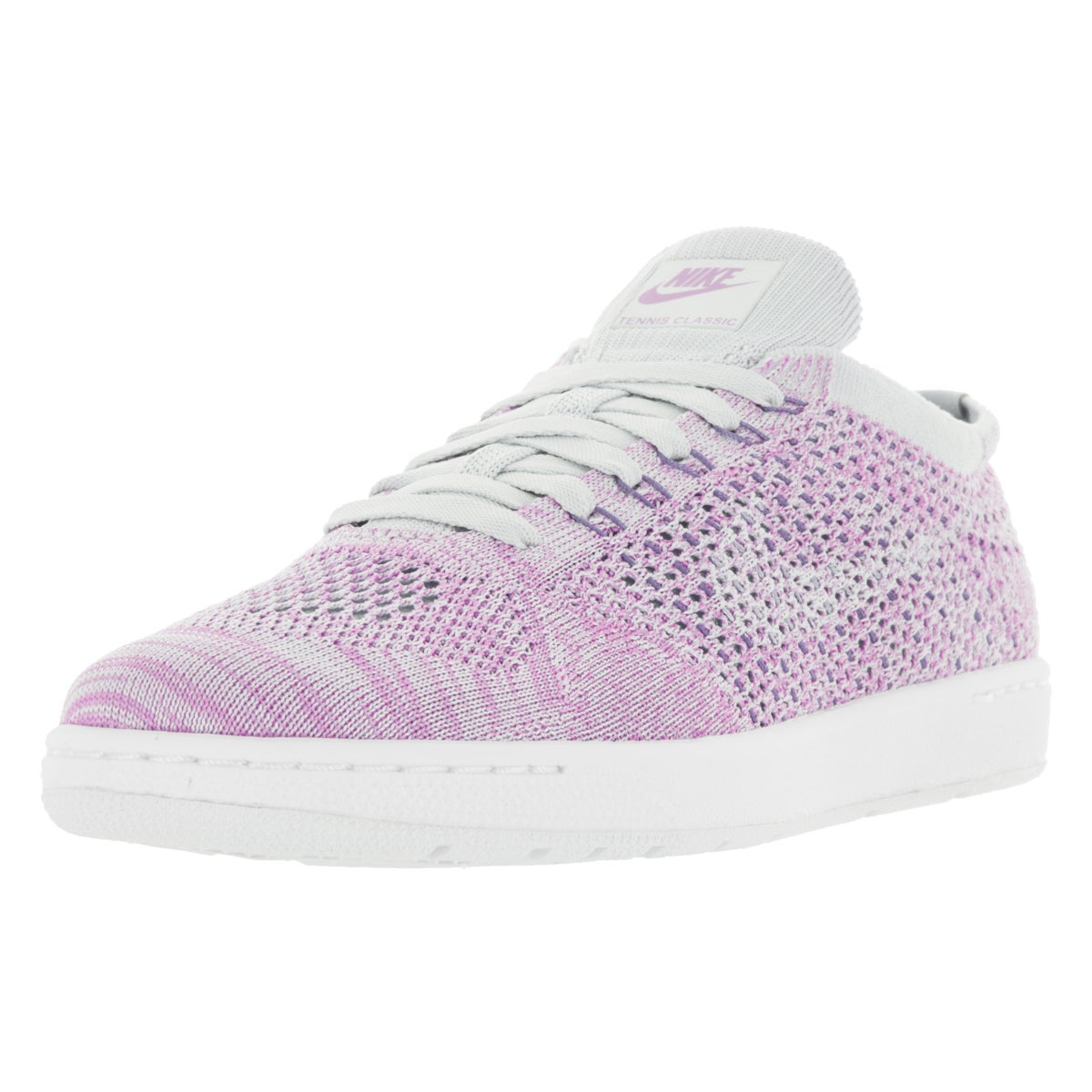 Nike Women's Tennis Classic Ultra Flyknit Purple and Whit...