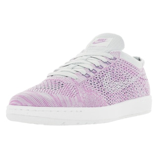 Nike Women's Tennis Classic Ultra Flyknit Purple and White Tennis Shoe