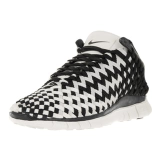 Nike Women's Free Inneva Black and Sail Woven Leather Running Shoes