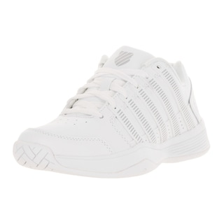 K-Swiss Women's Court Impact White/Silver Leather Tennis Shoe
