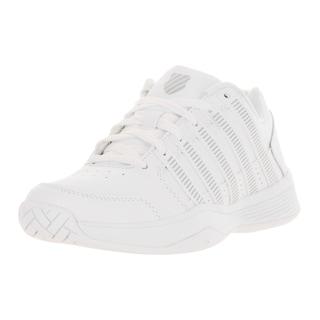 K-Swiss Women's Court Impact White/Silver Leather Tennis Shoe