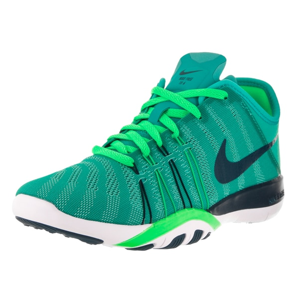 6ba2ce3aa97ef Shop Nike Women s Free Tr 6 Green Plastic Training Shoe - Free ...
