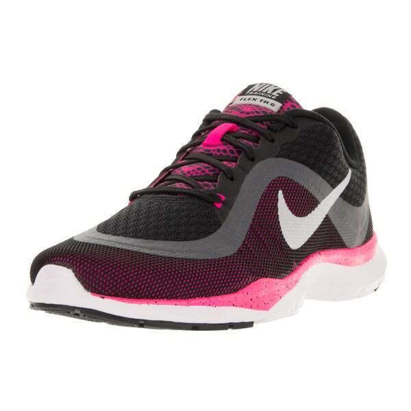 e64d5f8a320b ... Women s Athletic Shoes. Nike Women  x27 s Flex Trainer 6 BTS Black Metallic  Silver Pink
