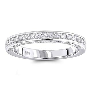 Luxurman Thin 14K Gold 5/8ct TDW Diamond Designer Engagement Ring Band (H-I, SI1-SI2)