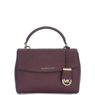 Michael Kors Ava Plum Purple Leather Small Top Handle Satchel