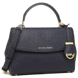 Michael Kors Admiral Ava Blue Leather Small Top-handle Satchel