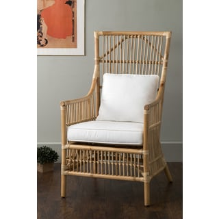 East At Main's Tucker Brown Rattan Occasional Chair