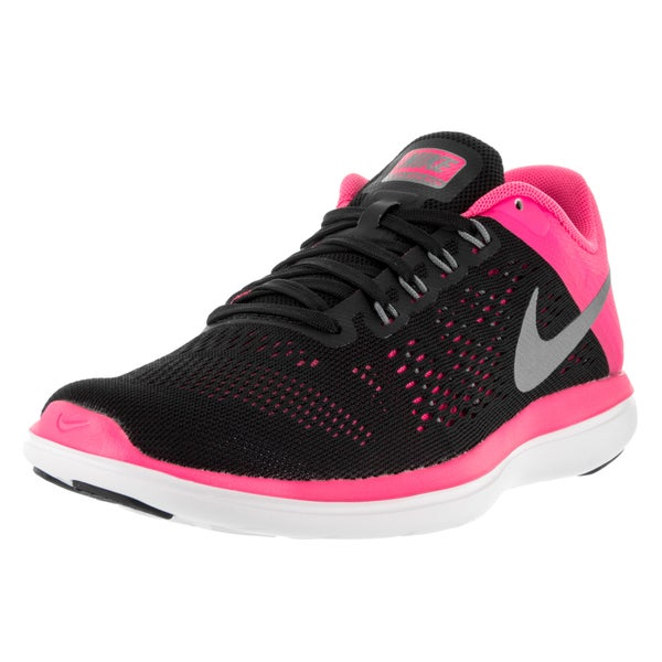 622b48041a0 Shop Nike Women s Flex 2016 Rn Black Pink White Running Shoes - Free ...
